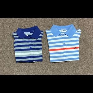 Lot Of 2 J Lindeberg 21st century Striped Polo GUC